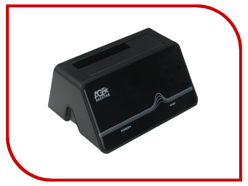 Аксессуар AgeStar Docking Station SCBT4 USB 2.0+eSATA SATA HDD Black<br>