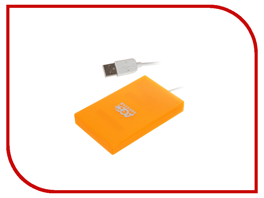 Контейнер AgeStar SUBCP1 USB 2.0 SATA HDD/SSD Orange 2 5 sata usb 3 0 hdd enclosure with pouch black silver super speed 5gbps