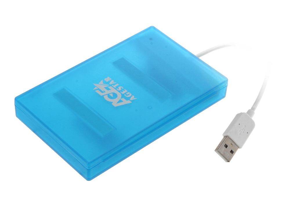 Контейнер AgeStar SUBCP1 USB 2.0 SATA HDD/SSD Blue мобил рек agestar 3ub2o8 usb 3 0 to 2 5hdd sata алюминий