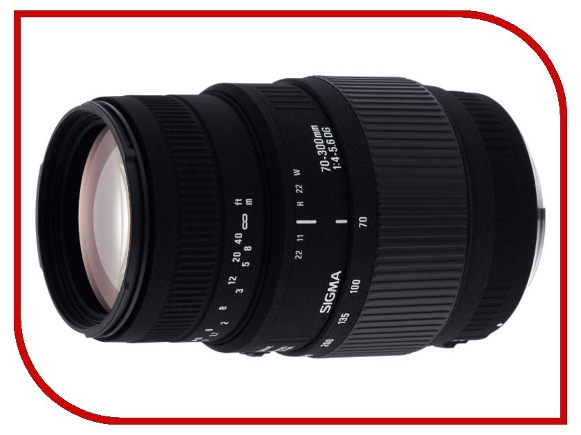 Объектив Sigma Nikon AF 70-300 mm F/4-5.6 DG Macro