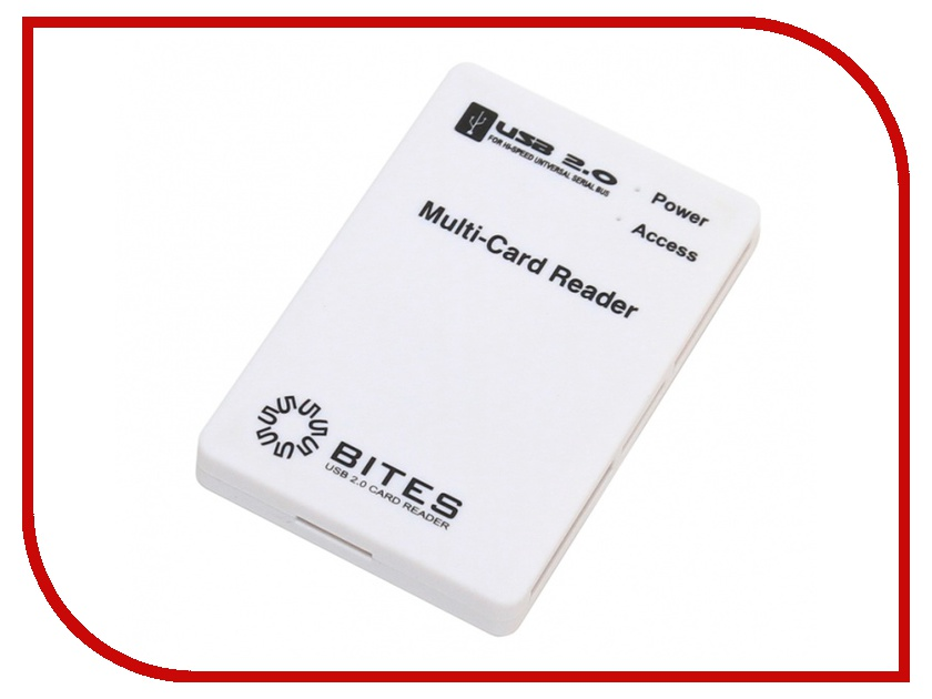 Карт-ридер 5bites RE2-101WH White