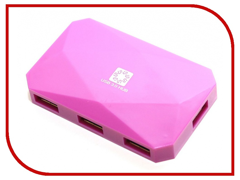 Хаб USB 5bites HB34-301PPU USB 4 ports Purple