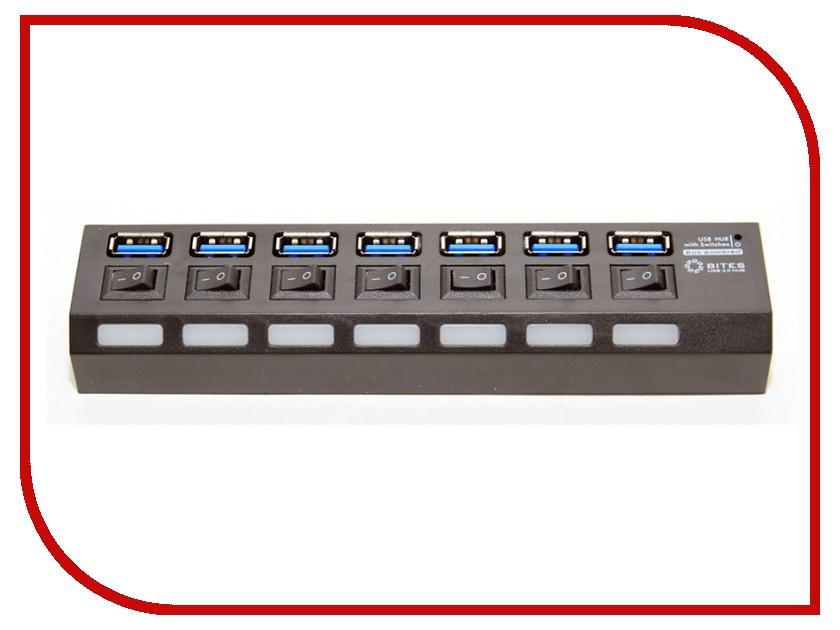 Хаб USB 5bites HB27-203PBK USB 7 ports Black цена и фото