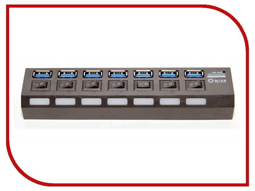 Хаб USB 5bites HB27-203PBK USB 7 ports Black