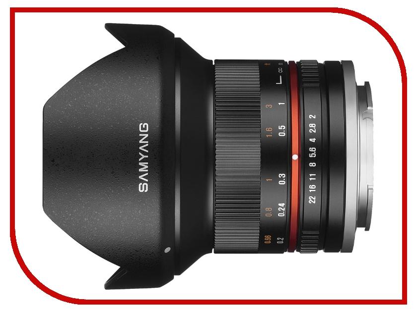 Объектив Samyang Samsung NX MF 12 mm F/2.0 ED AS NCS CS Black<br>