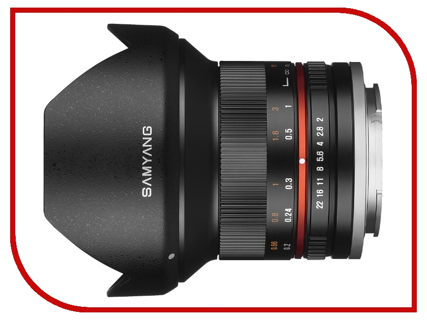 объективы для Sony MF 12 mm F/2.0  Объектив Samyang Sony E NEX MF 12 mm F/2.0 NCS CS Black