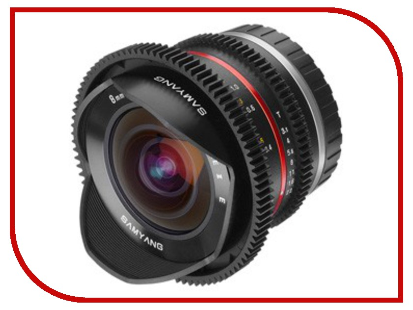 Объектив Samyang Sony E NEX MF 8 mm T3.1 Cine UMC Fish-eye II VDSLR<br>