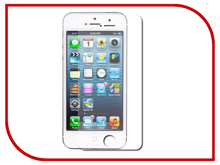 Аксессуар Ainy for iPhone 5 Стекло противоударное 0.33mm<br>