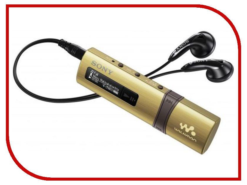 Плеер Sony NWZ-B183F Walkman - 4Gb Gold mp3 плеер sony nwz b183f 4gb red page 1