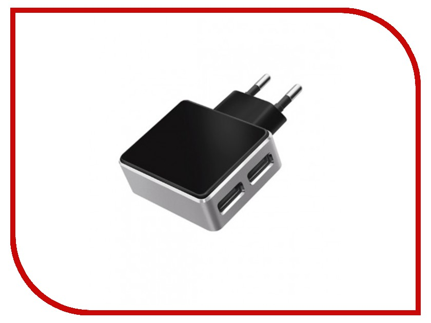 Зарядное устройство Deppa Ultra 2xUSB 3100mA Black 11309 сетевое<br>