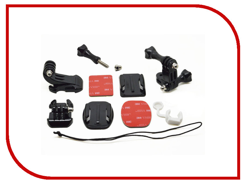 Аксессуар Комплект креплений Lumiix GP109 Grab Bag of Mounts для GoPro Hero 3+/3/2/1