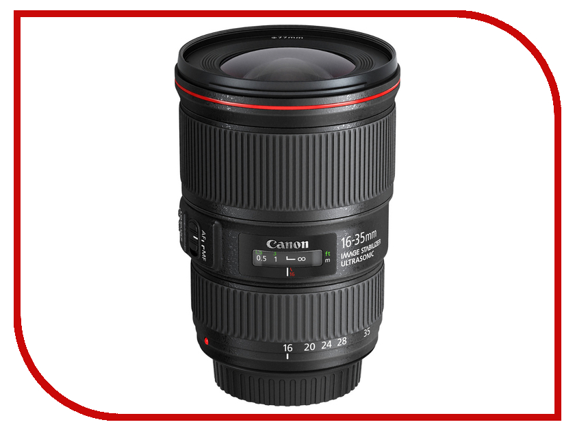 Объектив Canon EF 16-35 mm f/4L IS USM объектив для фотоаппарата canon ef 16 35mm f 4l is usm 9518b005