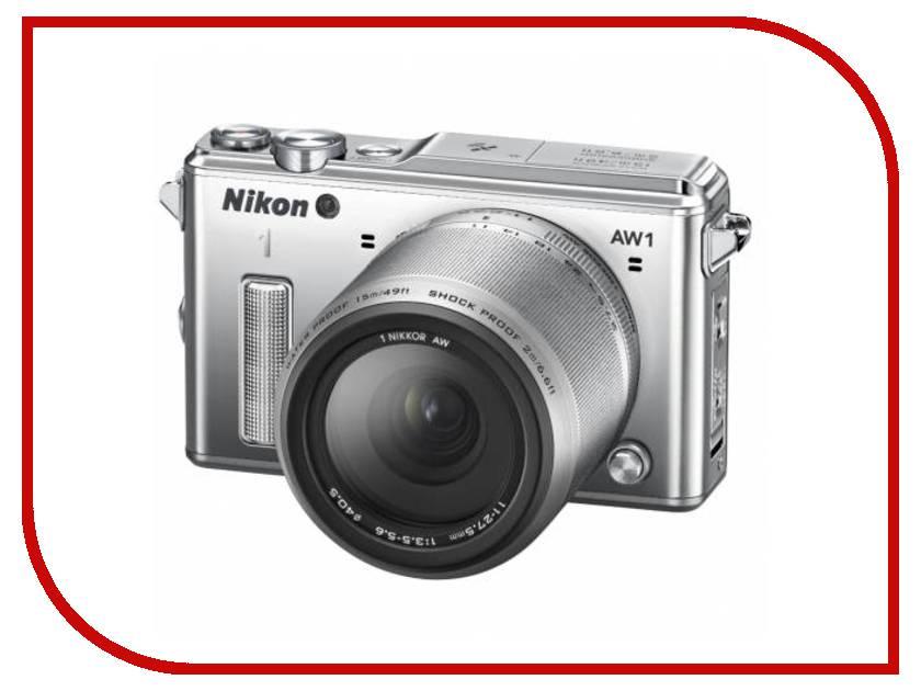 Фотоаппарат Nikon 1 AW1 Kit 11-27.5 mm F/3.5-5.6 Silver