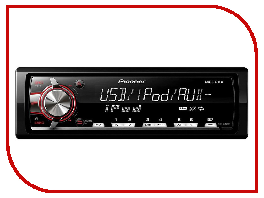 Автомагнитола Pioneer MVH-X460UI автомагнитола kenwood kdc bt510u