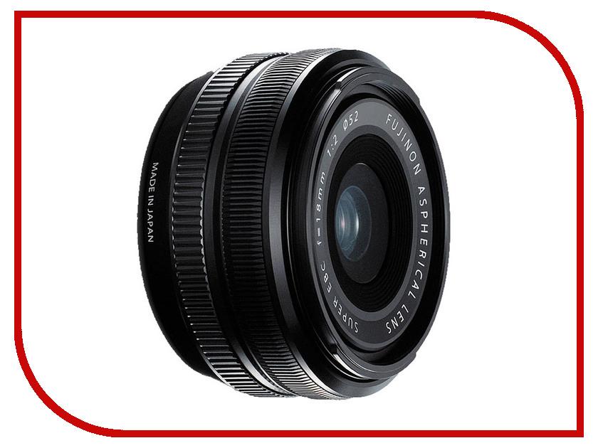 Объектив Fujifilm XF 18mm f/2 R X-Mount объектив fujifilm xf 55 200mm f 3 5 4 8 r lm ois
