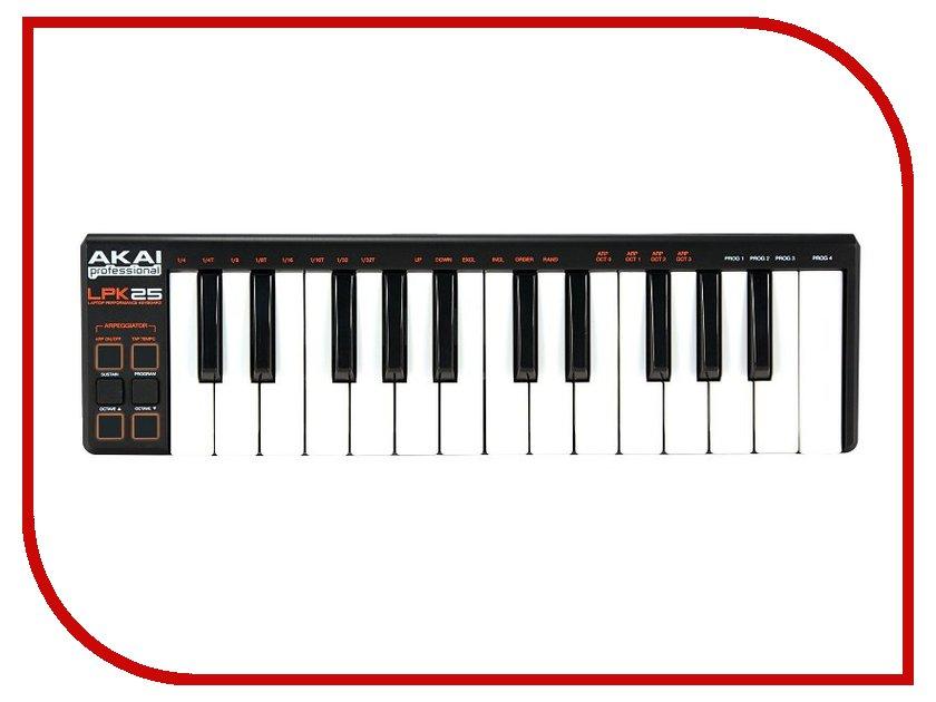 MIDI-клавиатура AKAI pro LPK25 25 akai professional mpc studio black