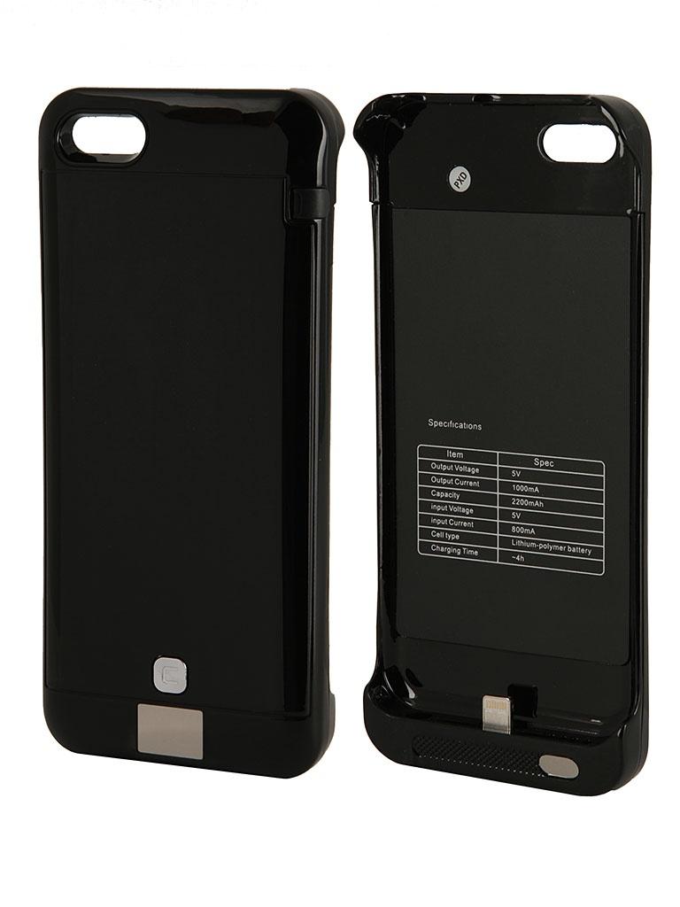 Аккумулятор Чехол-аккумулятор KS-is KS-232 2200mAh for iPhone 5/5S/5C Black