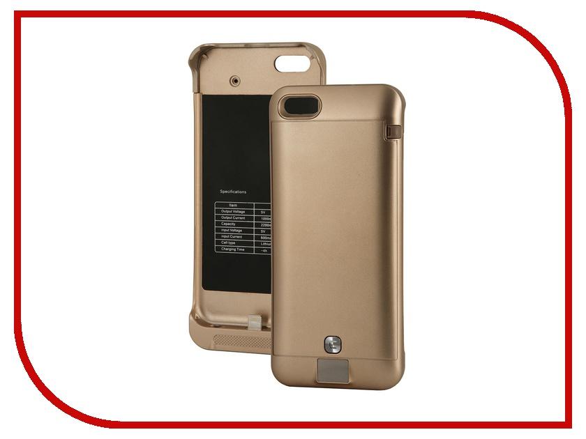 Аксессуар Чехол-аккумулятор KS-is KS-232 2200mAh for iPhone 5/5S/5C Gold<br>