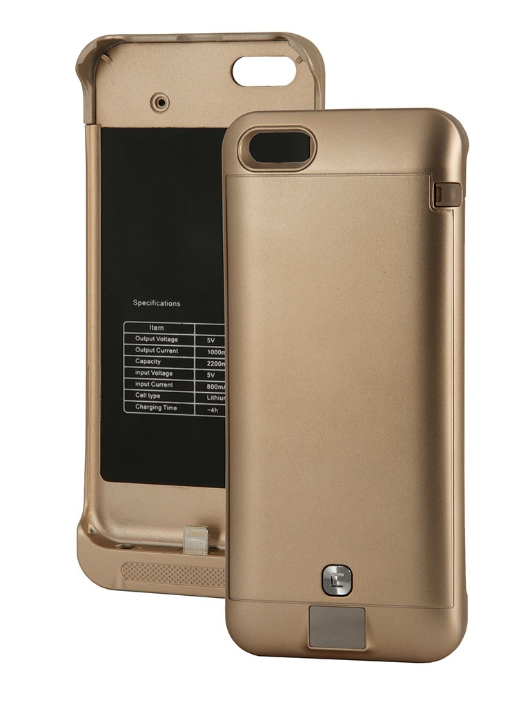 Аккумулятор Чехол-аккумулятор KS-is KS-232 2200mAh for iPhone 5/5S/5C Gold
