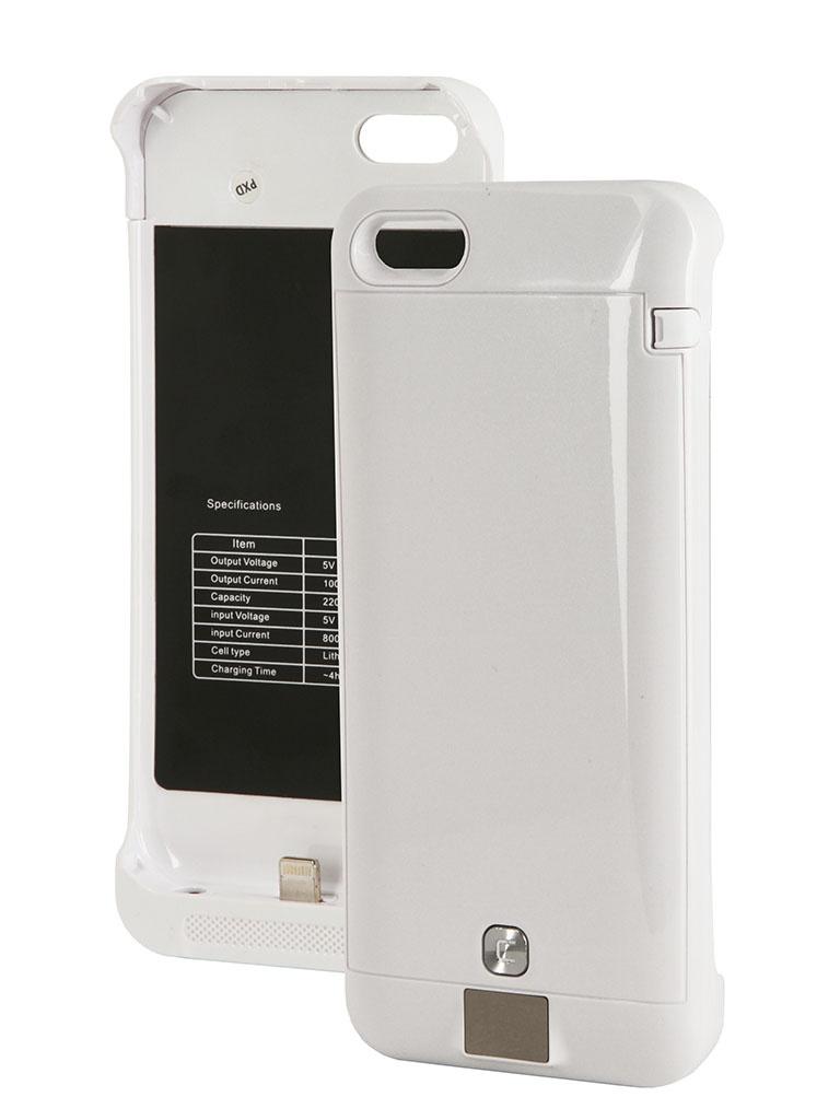 Аккумулятор Чехол-аккумулятор KS-is KS-232 2200mAh for iPhone 5/5S/5C White