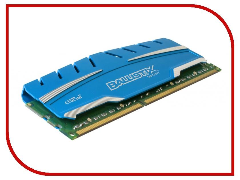 Модуль памяти Crucial Ballistix Sport XT DDR3 DIMM 1600MHz PC3-12800 CL9 - 4Gb BLS4G3D169DS3CEU<br>
