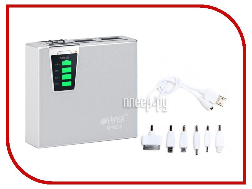 Аккумулятор HIPER Power Bank MP5000 5000 mAh Silver<br>