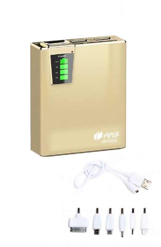 Аккумулятор HIPER Power Bank MP7500 7500 mAh Gold