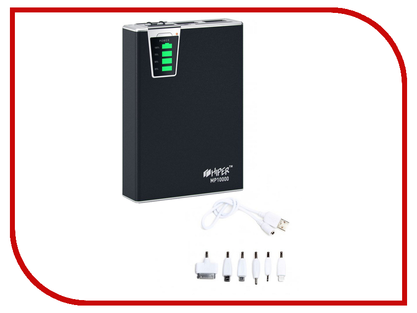 Аккумулятор Hiper Power Bank MP10000 10000mAh Black аккумулятор hiper power bank rp10000 10000mah white