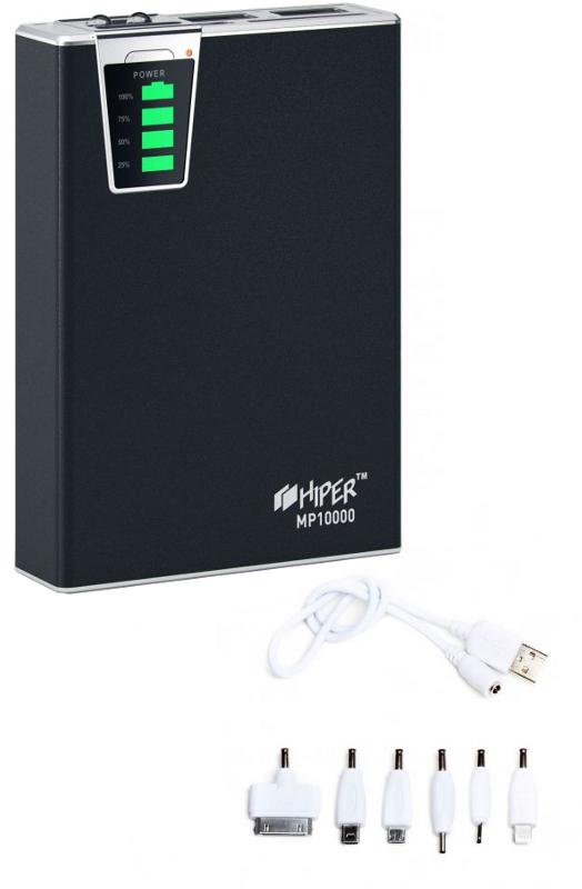 Внешний аккумулятор Hiper Power Bank MP10000 10000mAh Black