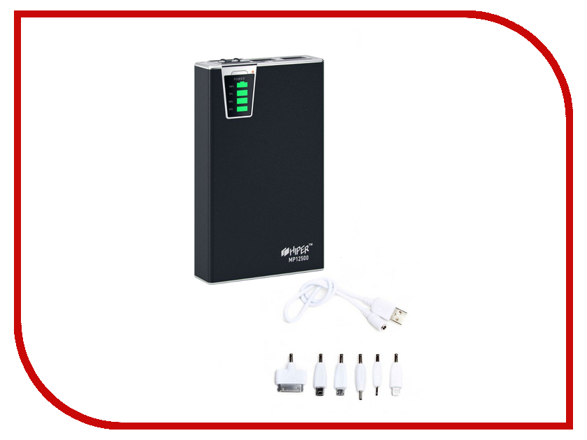 Аккумулятор Hiper Power Bank MP12500 12500mAh Black аккумулятор hiper power bank ep6600 lady cat 6600mah