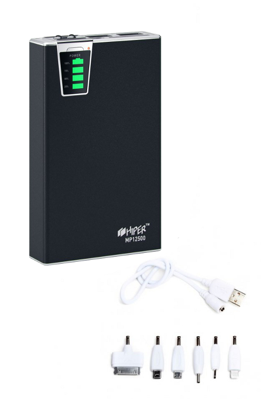 Аккумулятор HIPER Power Bank MP12500 12500 mAh Black