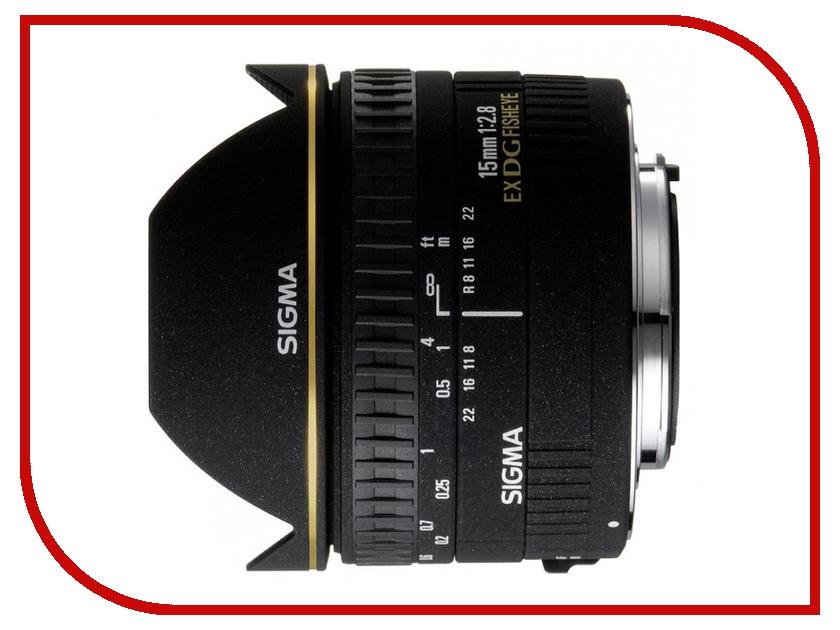 Объектив Sigma Canon AF 15 mm F/2.8 EX DIAGONAL FISHEYE diagonal fisheye