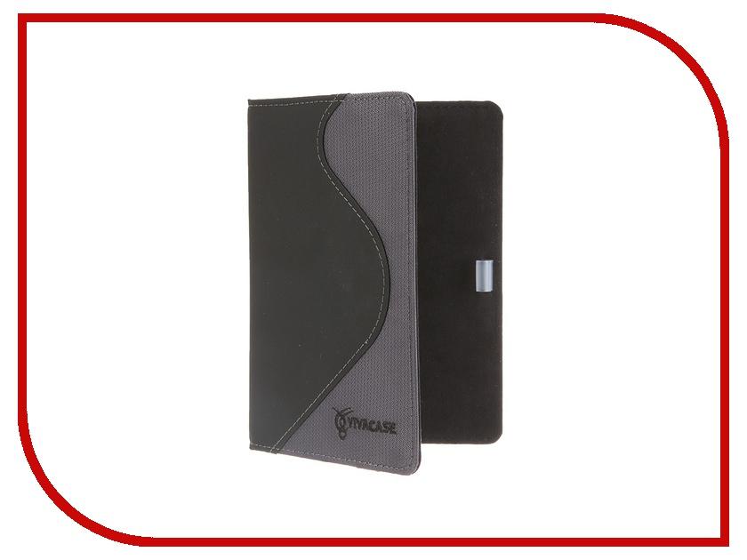 Аксессуар Чехол Touch Viva S-style LUX for Pocketbook 640/626/614/624/623/622 кожа/ткань Black-Grey VPB-Sf622Gr