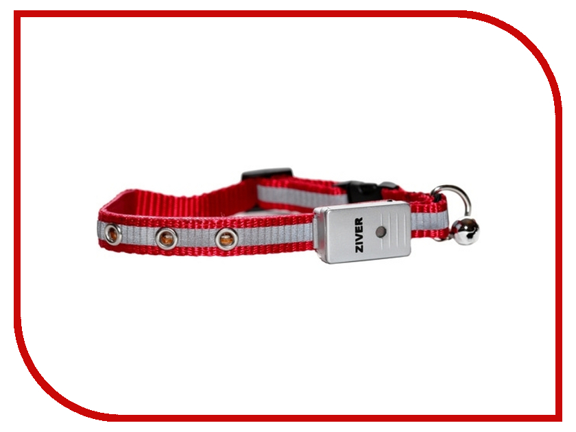 Ошейник светодиодный Ziver 402 40.ZV.217 Red