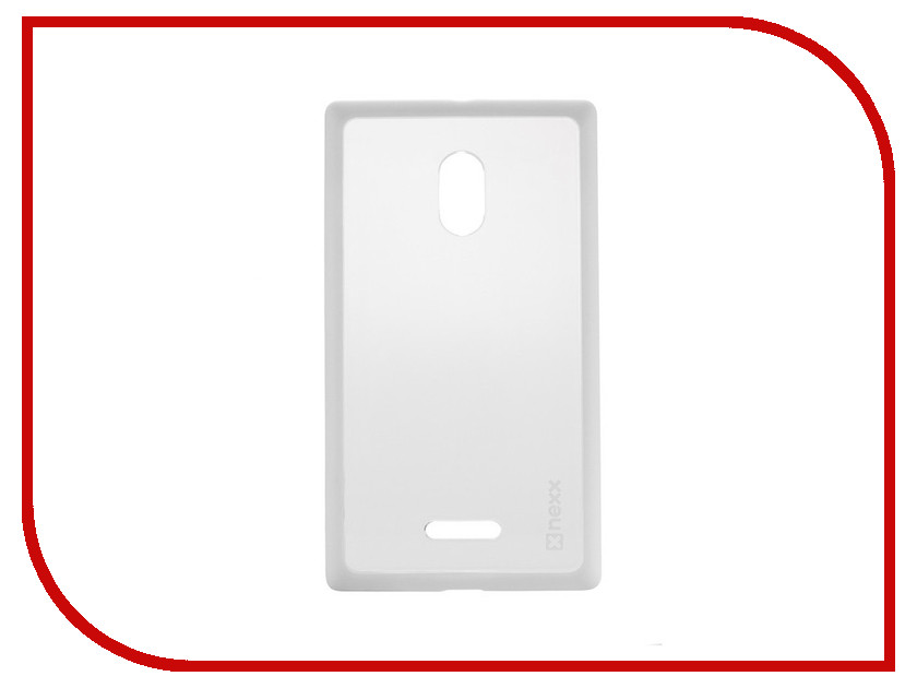 Аксессуар Чехол Nokia XL NEXX Zero поликарбонат White MB-ZR-602-WT hewlett packard hp многофункциональная лазерная аппаратура для печати копии факса сканирования