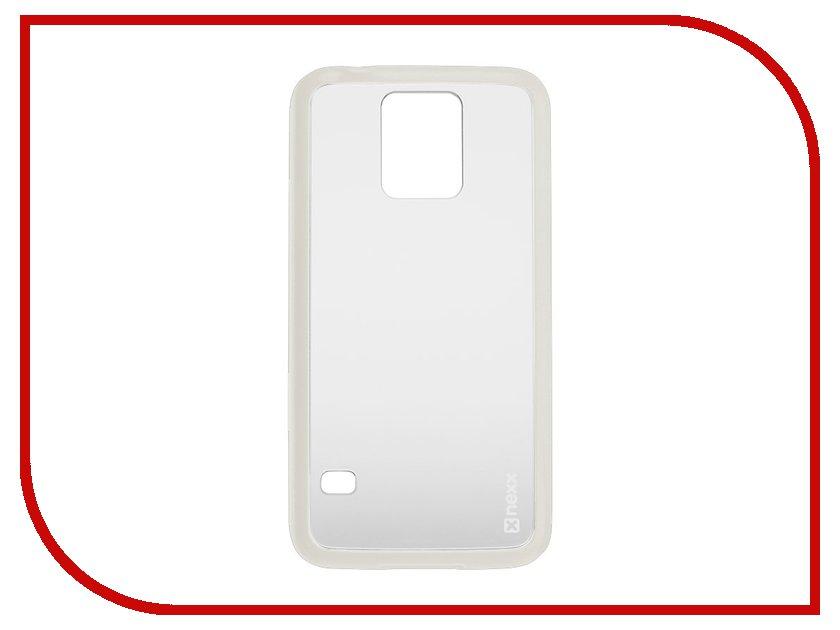 Аксессуар Чехол-накладка Samsung Galaxy S5 NEXX Zero поликарбонат White MB-ZR-202-WT<br>