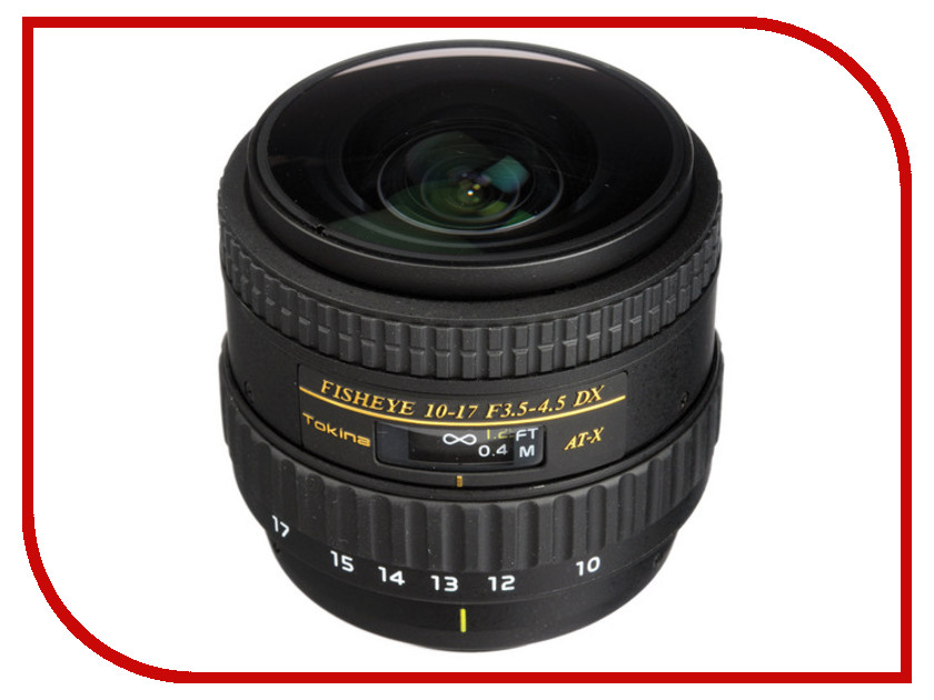 Объектив Tokina Nikon AF 10-17 mm F/3.5-4.5 AT-X DX NH Fisheye NON HOOD