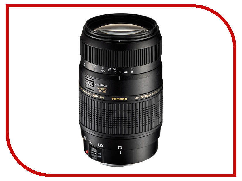 объективы для Nikon и FujiFilm AF 70-300 mm F/4-5.6  Объектив Tamron AF 70-300mm F/4-5.6 Di LD MACRO 1:2 Nikon F