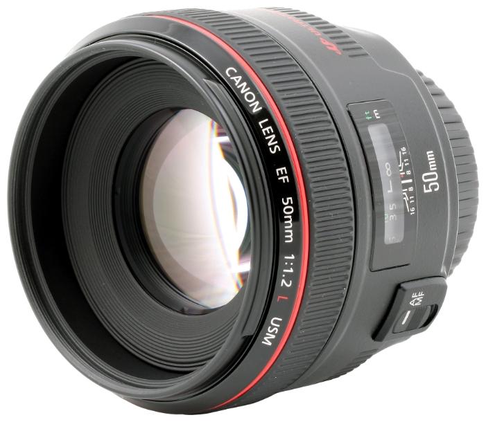 Объектив Canon EF 50 f/1.2L USM объектив canon ef 180mm f 3 5l macro usm