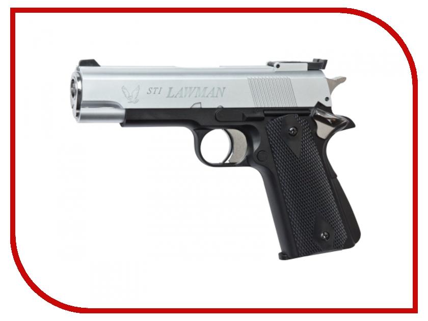 Пистолет ASG STI Lawman Silver/Black 14769<br>