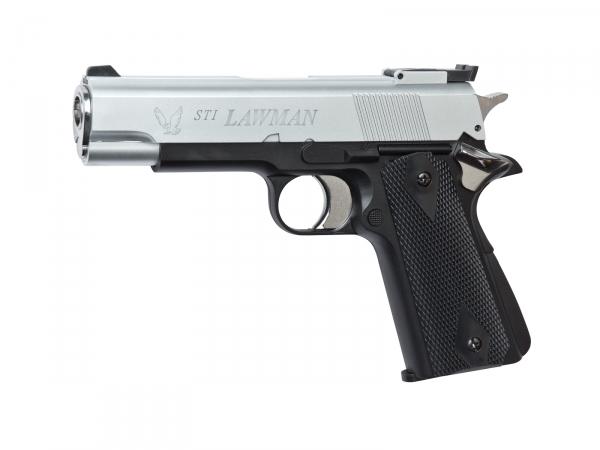 Пистолет ASG STI Lawman Silver/Black 14769 от Pleer