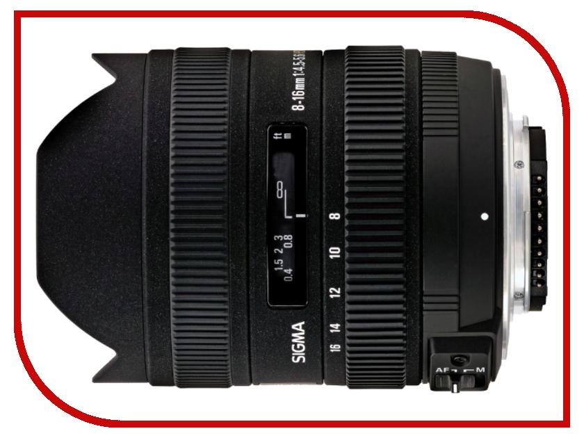 Объектив Sigma Canon AF 8-16 mm F/4.5-5.6 DC HSM<br>