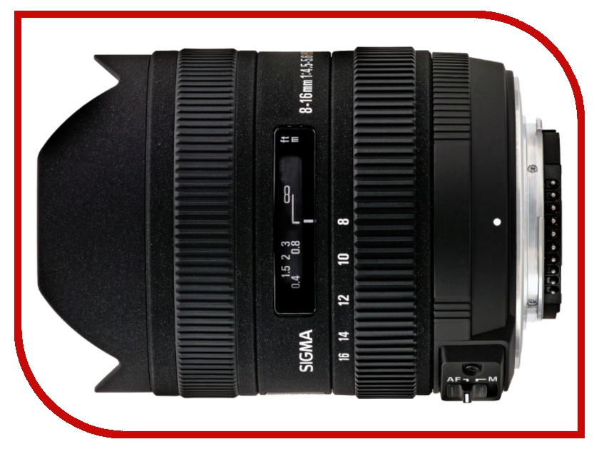 Объектив Sigma Canon AF 8-16 mm F/4.5-5.6 DC HSM