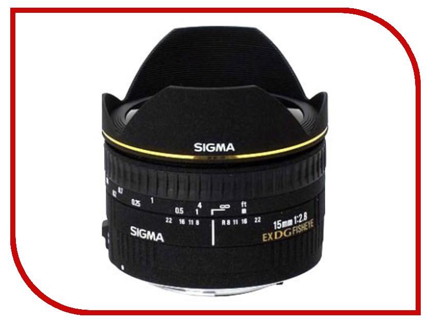 Объектив Sigma Nikon AF 15 mm F/2.8 EX DG DIAGONAL FISHEYE diagonal fisheye