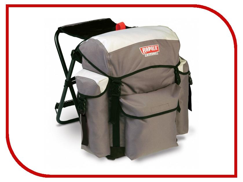 Набор рыбака Рюкзак со стулом Rapala Sportsmans 30 Chair Pack Grey 46011-2<br>