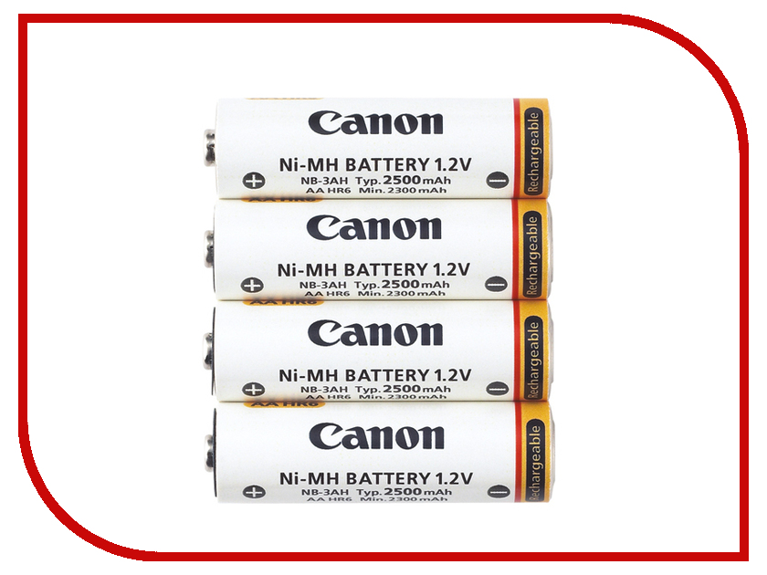 Аккумулятор AA - Canon NB4-300 2500 mAh Ni-MH (4 штуки)<br>