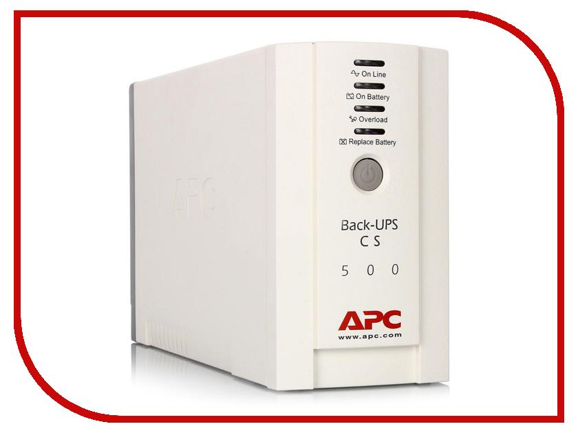 Источник бесперебойного питания APC Back-UPS CS 500VA 300W BK500EI источник бесперебойного питания apc back ups bc650 rsx761 bc650 rsx761