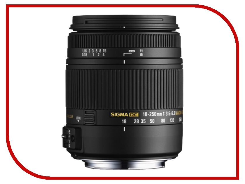 Объектив Sigma Nikon AF 18-250 mm F/3.5-6.3 DC OS HSM MACRO<br>