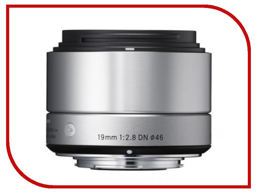 Объектив Sigma Sony E AF 19 mm F/2.8 DN ART for NEX Silver aluminum alloy lens reversal filter adapter ring for sony m42 af black
