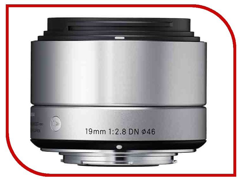 Объектив Sigma Micro 4 / 3 AF 19 mm F / 2.8 DN ART for Micro Four Thirds Silver